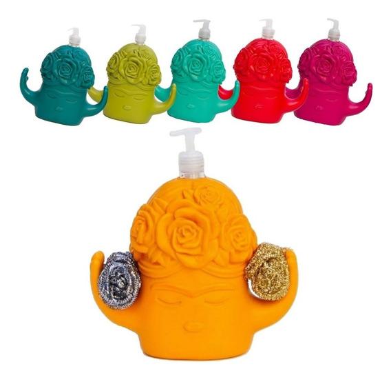 Dispenser Detergente Frida Organizador Cocina Esponja Diseño