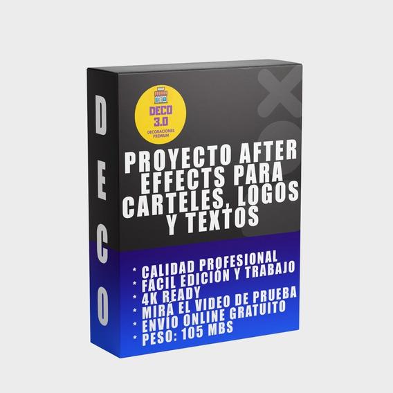 Plantilla Logos Señales Carteles Y Textos After Effects