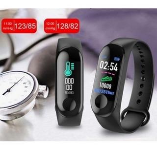 Kit De 3 Pulseira Inteligente Smartband M3 Monitor Cardíaco