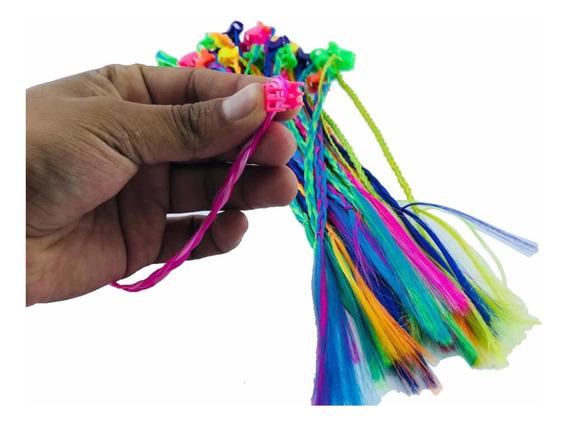 Set 30 Trenzas Colores Pinza Peinado Niña Regaló Fiesta