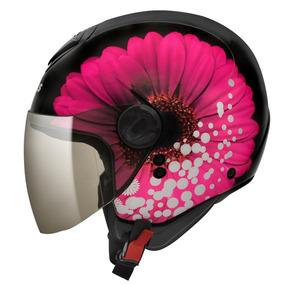 Capacete Peels Freeway Bloom Preto/rosa