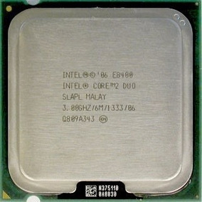 Intel® Core2 Duo Processor E8400 (6m Cache, 3.00 Ghz, 1333