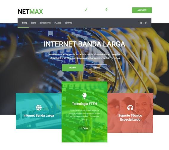 Tema Site Provedor Internet Em Html5 Responsivo Profissional