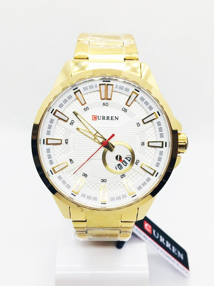 Relógio Curren 8372 100% Original - Envio Em 24h