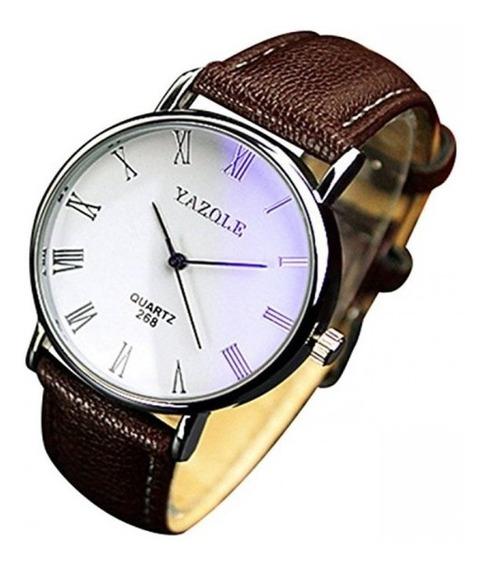 Reloj Para Hombre Casual De Acero Vidrio Blanco Envió Gratis