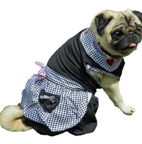 Vestido Para Cachorro/ Gato Verão Xadrez