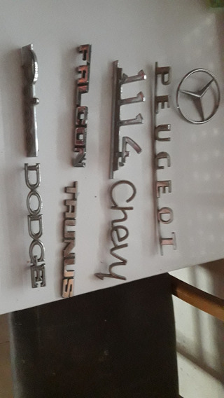 Insignias Dodge Peugeot Falcon Taunus Chevy Mercedes