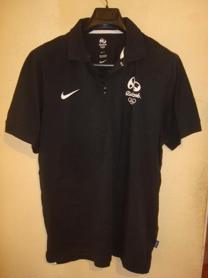 Playera Tipo Polo Rio Brasil 2016 Original Nike