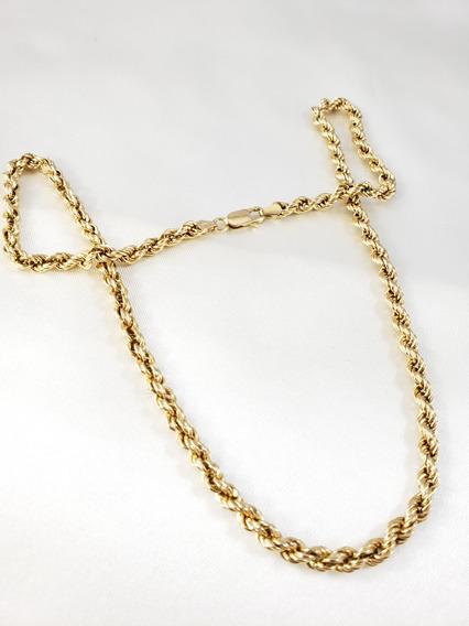 Cordão Baiano Trançado Ou Torcido De Ouro Amarelo Bem Grossa