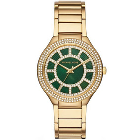 Relógio Michael Kors Kerry Green Crystal Mk3409/4vn