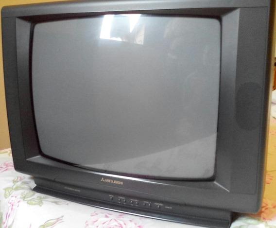 Tv Tubo 21p Mitsubishi Mod On Screen Memo Televisor Televisã