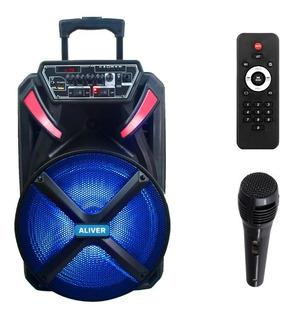Parlante Bluetooth Karaoke C/microfono Aliver 12 Pulgadas