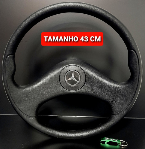 Volante De Caminhão Mercedes Benz Mb 1214 Hpn Black 43cm Vc