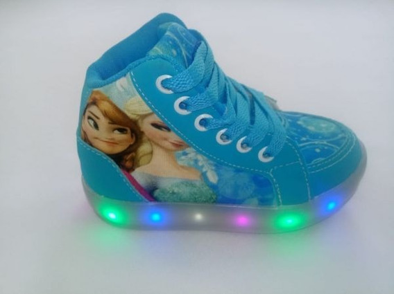 Bota Luz Led Frozen Elsa Infantil Disney Personagens Criança