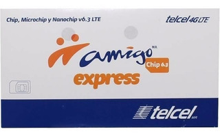 20 Pzas. Chip Telcel Xpress Nuevo Lada 971