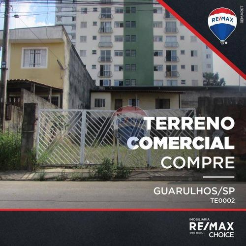 Terreno, 240 M² - Venda Por R$ 499.990,00 Ou Aluguel Por R$ 2.990,00/mês - Macedo - Guarulhos/sp - Te0002
