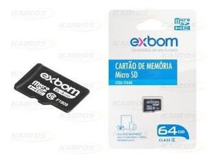 Cartão De Memória Classe 10 Micro Sd 64gb F1920s
