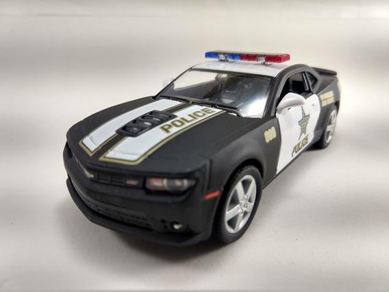 Miniatura Camaro 2014, Da Polícia, Na Escala 1/32