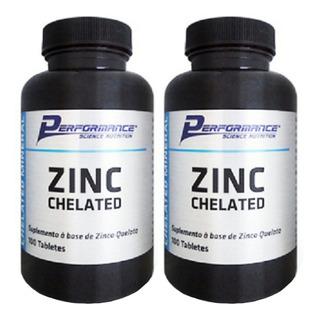 Zinco Mineral Quelato 29 Mg Performance Nutrition 100 Tab 2u