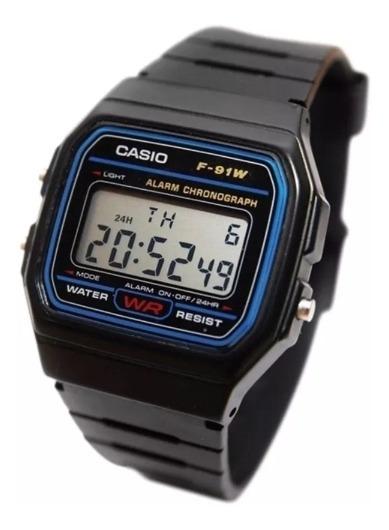 Reloj Casio F91 Negro Plástico Más Regalo