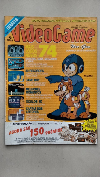 Revista Video Game Número 2 Rara Mega Man Game Boy E145
