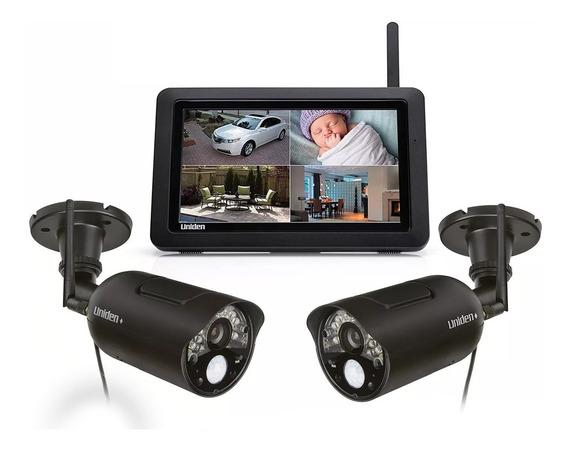 Kit 2 Cámaras De Seguridad + Tablet Infrarrojo Uniden Udr744