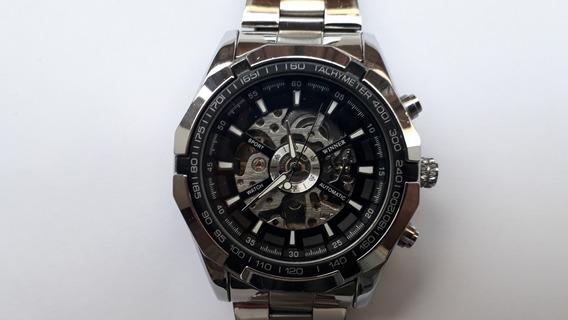 Relógio Automático Esqueleto Aço Usado Barato Original C.120