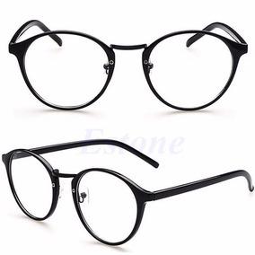 b7764ea2f Armação Óculos Feminino Grau Vintage Redonda Preta A812