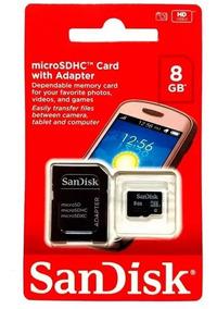 Cartão Memória Micro Sd 8gb Sandisk Original Lacr - 10 Unid