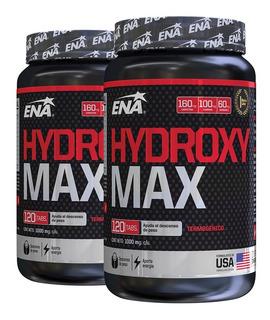 Hydroxy Max Ena X 120 Tabs Quemador Termogenico X 2 Unidades