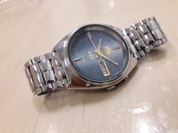 Relógio Orient Automático,mostrador Azul Diferenciado.