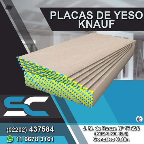 Placa De Yeso Knauf 12,5 Mm Servicersa