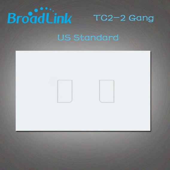 Domotica Inteligente Interruptor Smart Broadlink Tc2 2 Gang