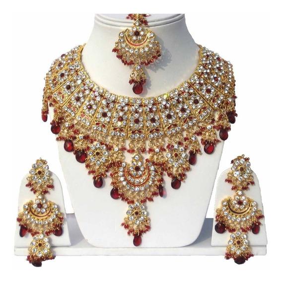 Joia Indiana Bollywood Designer Kundan Tikka Kit 3pcs #56