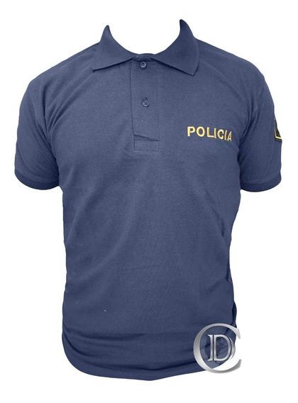 Chomba Piquet Policía Provincia Bsas Azul Dorado Oficiales