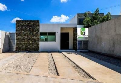 (crm-5360-33) Preciosa Casa De 1 Planta En Santa Rita Cholul, Te Regalamos La Cocina