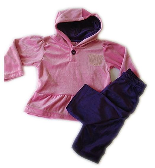 Conjunto Calça+jaqueta Capuz Plush Bebê 6 Meses Ref 7079