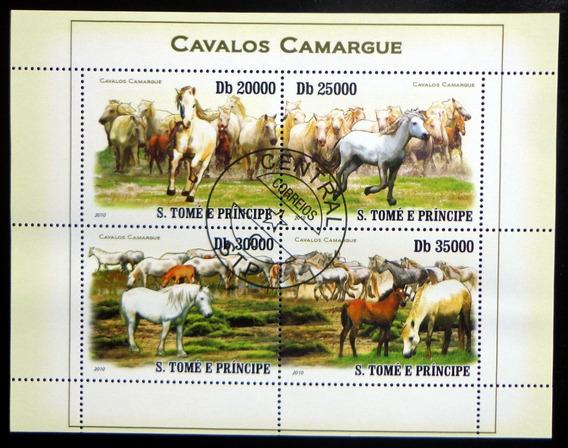 Santo Tomé Caballos, Bloque 4 Sellos 2010 Usado L9879