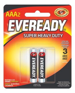 Caja 36 Pilas Zinc Carbon Eveready Aaa Super Heavy Duty