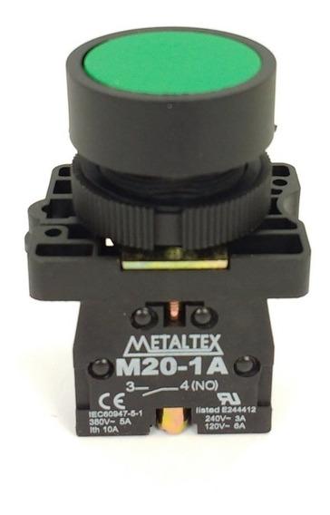 Botão Pulsador Vd 1na+1nf + Sinalizador Verde Cliente.