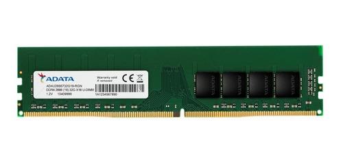 Imagem 1 de 2 de Memória Desktop Pc 32gb Ddr4 2666mhz Adata Ad4u2666732g19-s