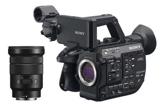 Filmadora Sony Pxw-fs5 4k Xdcam Super 35mm Streaming Com Len