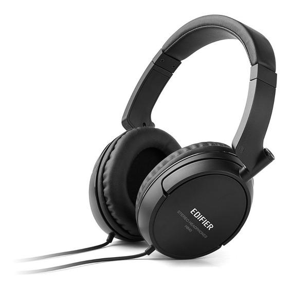 Fone De Ouvido Headphone Edifier Preto Com Fio H840