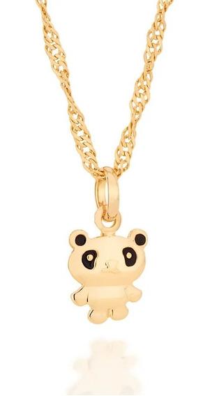 Colar Infantil Rommanel Pingente Panda 542232 + 531097 Vb