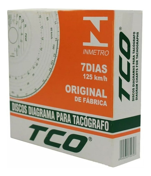 Disco Tacógrafo Diagrama Semanal 125km 7d 70 Unidades Tco