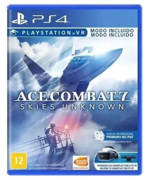 Jogo Ace Combat 7 Skies Unknown Ps4 Midia Fisica Lacrado Vr