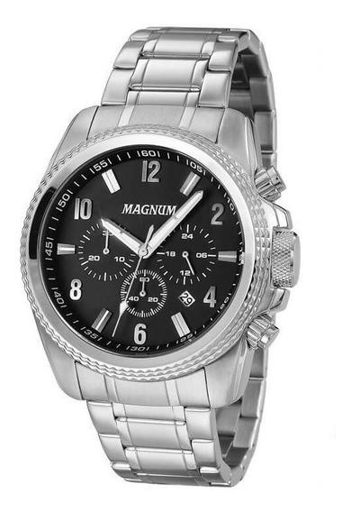 Relógio Magnum Prateado Masculino Ma34076t