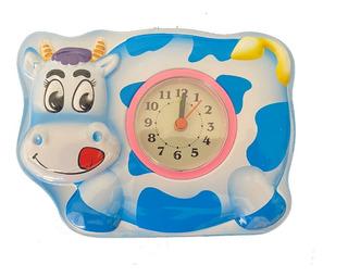Alcancia Reloj Caja Metálica Vaca