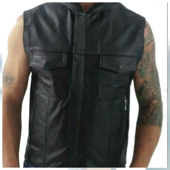Colete/jaqueta/casaco Masculino Em Couro Legitimo Soa