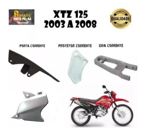 Tampa Pinhão Xtz 125 +protetor+guia+porta Corrente